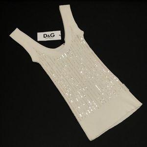 NWT Dolce & Gabbana Sequin Sleeveless Sweater
